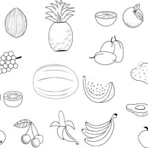 Picture of a Lot of Fruit Coloring Page