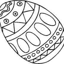 Picture of an Easter Egg Coloring Page