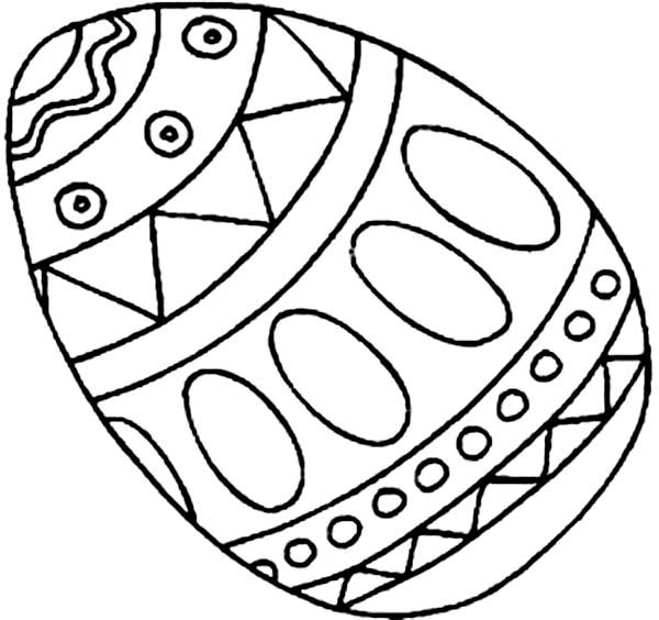Picture of an Easter Egg Coloring Page - NetArt