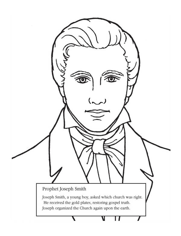 Joseph Smith Coloring Pages Regarding Residence Cool Joseph Smith Coloring Pages