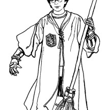 Harry Potter Coloring Pages Quidditch Team