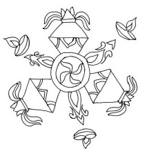 Rangoli Design Special for Diwali Coloring Page