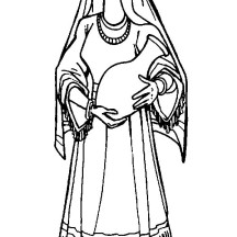 Rebbeca Holding a Pitcher in the Bible Heroes Coloring Page