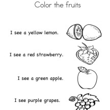 Recognize the Fruit Coloring Page