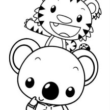 Rintoo and Tolee from Ni Hao Kai Lan Coloring Page