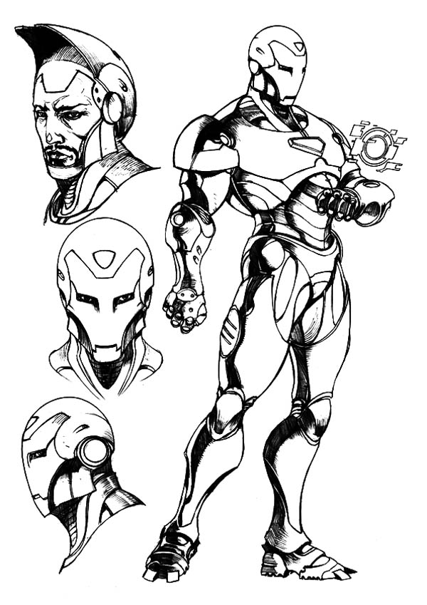 Robert Downey Jr Iron Man Coloring Page