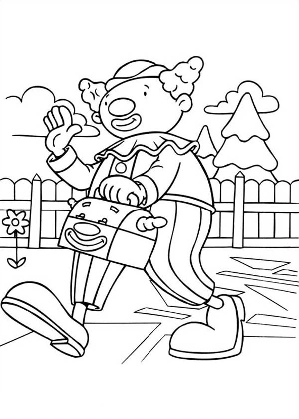 Skeebo Seltzer from Jojo's Circus Coloring Page