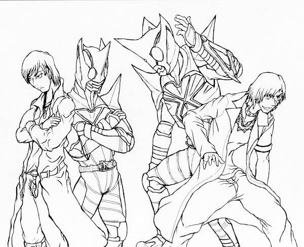 Takeshi Hongo is Kamen Rider Coloring Page