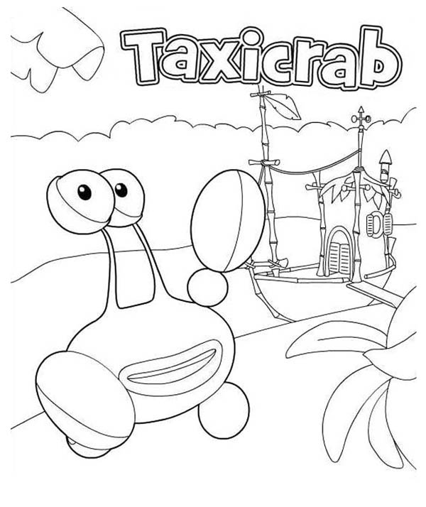 taxicrab from jungle junction coloring page - Jungle Junction Coloring Pages