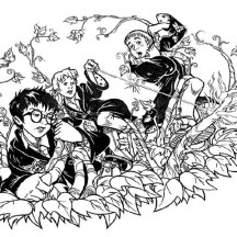 The Adventure of Harry Potter Coloring Page