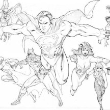 The Brave and the Bolt Justice League Coloring Page