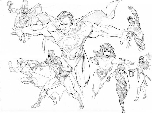 The Brave and the Bolt Justice League Coloring Page - NetArt