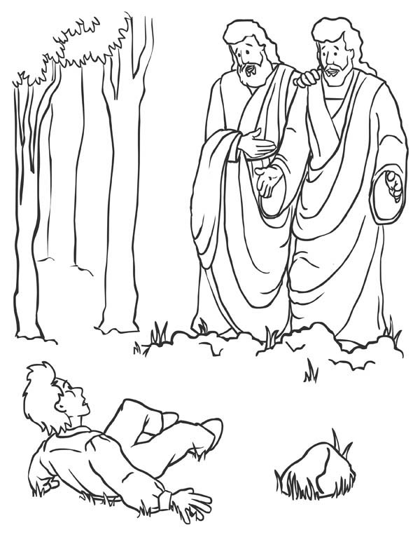 The Day Joseph Smith Met God Father and Jesus Christ Coloring Page ...