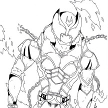 The Great Kamen Kiva Rider Coloring Page
