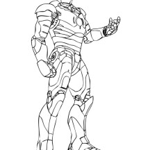 The Invincible Iron Man Coloring Page