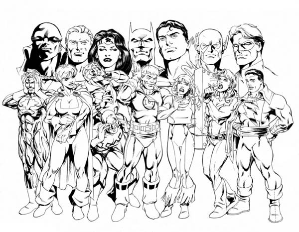The Member of Justice League Coloring Page - NetArt