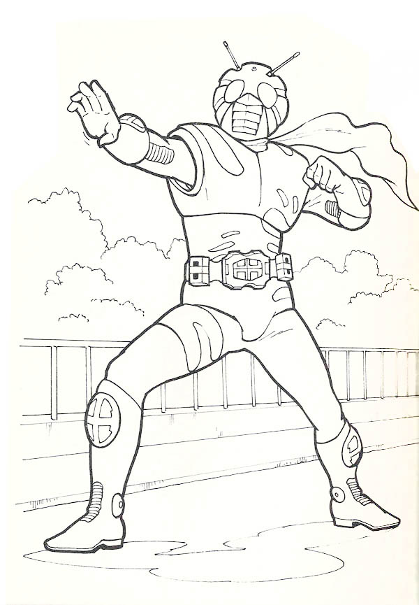 kamen rider coloring pages - photo#42
