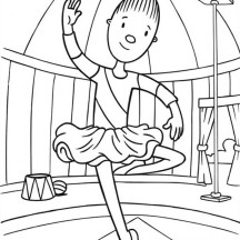 Trina Ballet Dancing in Jojo's Circus Coloring Page