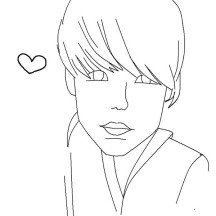 Valentine Day with Justin Bieber Coloring Page