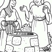 Virgin Mary The Bible Heroes Coloring Page