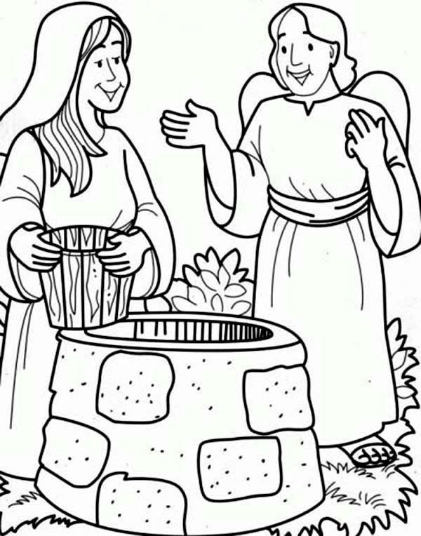 heroes of the bible coloring pages - virgin mary the bible heroes coloring page netart