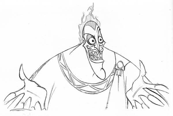 Walt Disney Hades Coloring Page