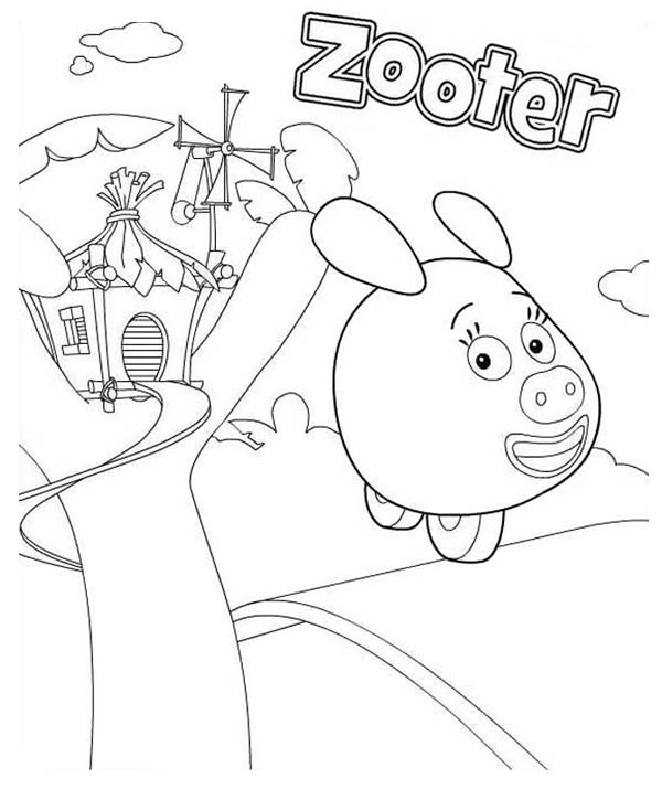zooter from jungle junction coloring page - Jungle Junction Coloring Pages