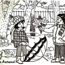 I Love Autumn Coloring Page