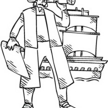 Columbus Day History Coloring Page