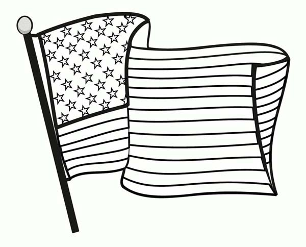 Celebrating Veterans Day With National Flag Coloring Page
