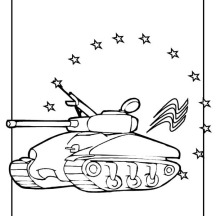 Celebrating Veterans Day with Tanks Parade Coloring Page