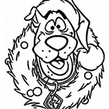 Christmas netart for Christmas scooby doo coloring pages