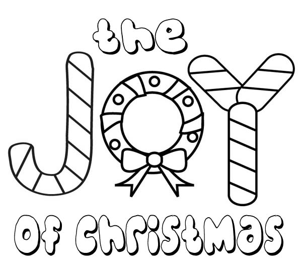 The Joy of Christmas for Everyone on Christmas Coloring Page