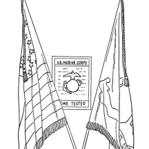 US Marine Corps Celebrating Veterans Day Coloring Page