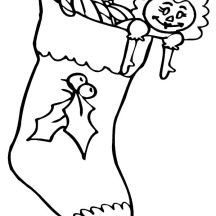 Christmas Stockings for Little Sister Coloring Pages