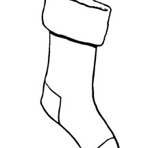 Hanging Christmas Stockings Coloring Pages