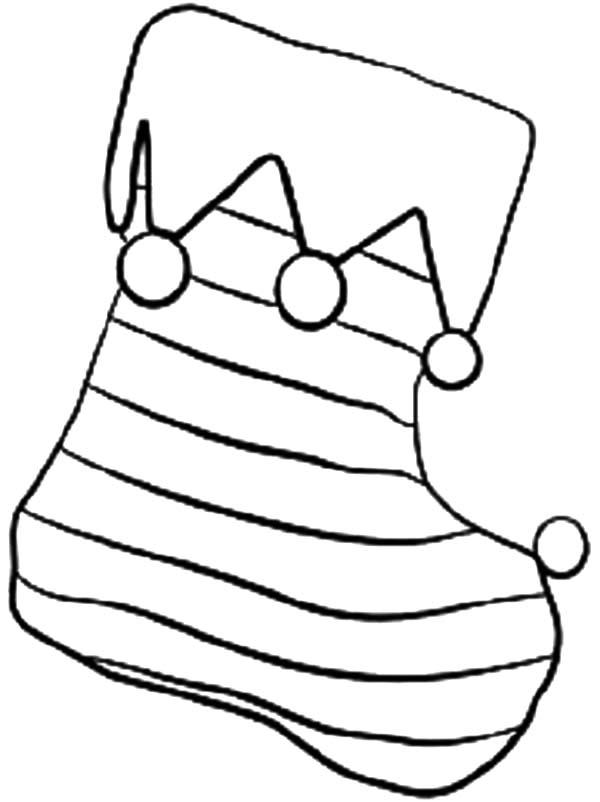 Stripe christmas stockings coloring pages