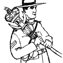 Canadian Ranger on Memorable Canada Day Coloring Pages
