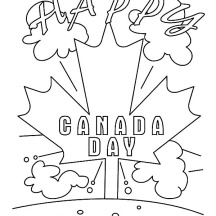 Its a Happy Memorable Canada Day Coloring Pages
