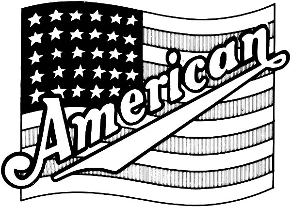 Proud USA Flag for Independence Day Event Coloring Pages