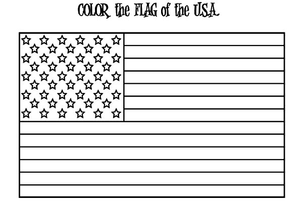 USA Flag for Independence Day Event Coloring Pages