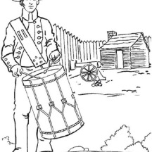 USA Soldier Fight for Independence Day Event Coloring Pages