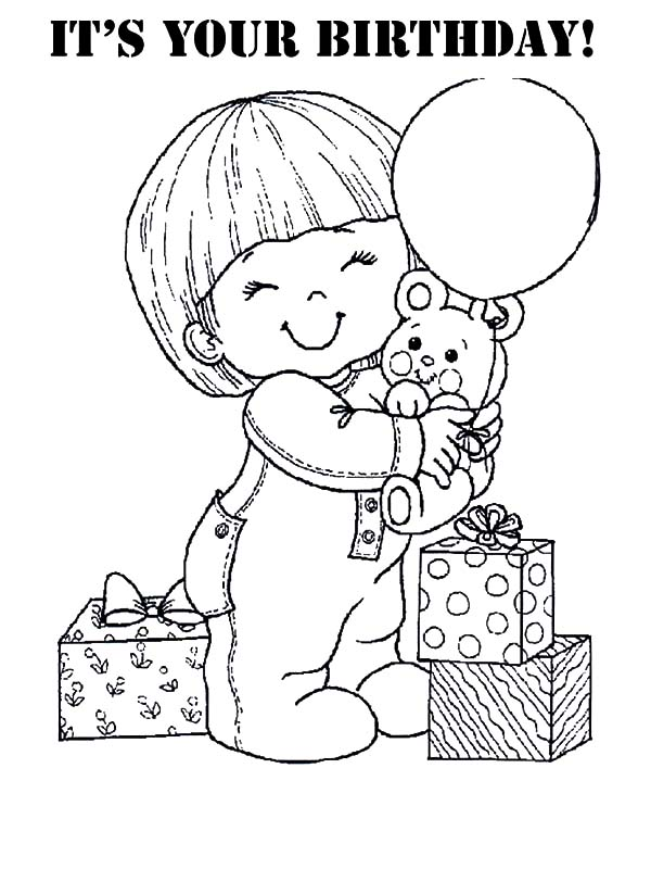 A Lot of Present at Birthday Party Coloring Pages