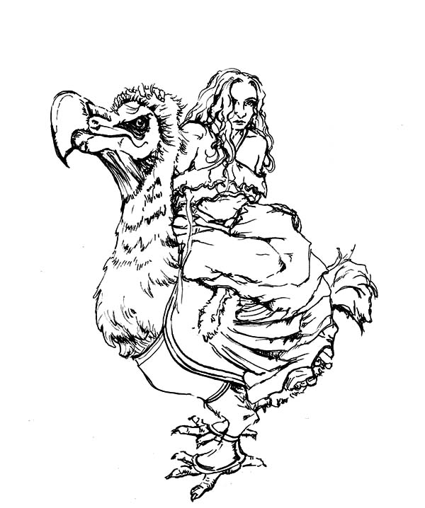Alice Ride Dodo Bird Coloring Pages