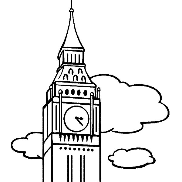 Amazing London Clock Tower Coloring Pages - NetArt