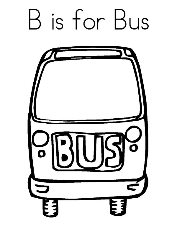 B is for City Bus Coloring Pages