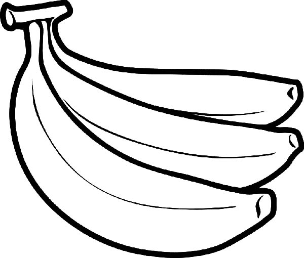 Banana Bunch Coloring Pages
