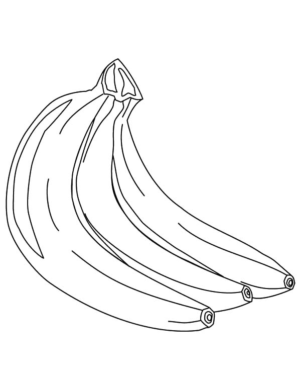 Banana Bunch Full of Vitamins Coloring Pages