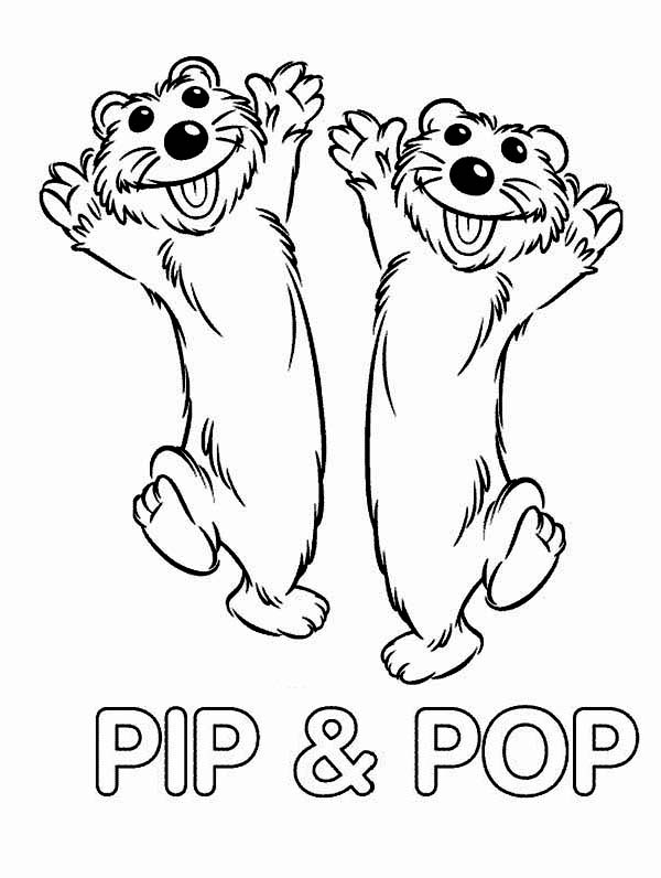 Bear inthe Big Blue House Friend Pip and Pop Coloring Pages