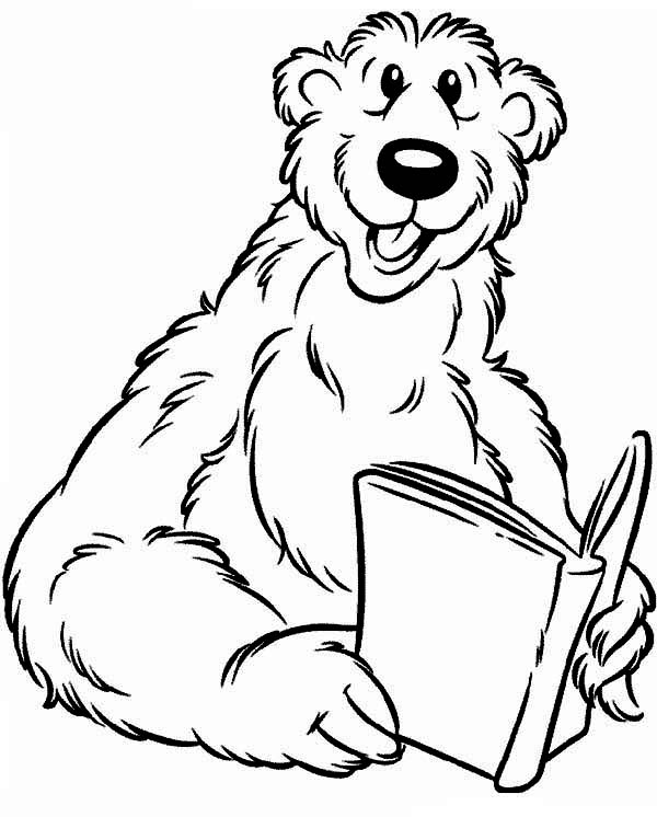bear inthe big blue house read a book coloring pages
